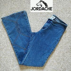 Vintage Jordache no waistband flared jeans sz 7/8
